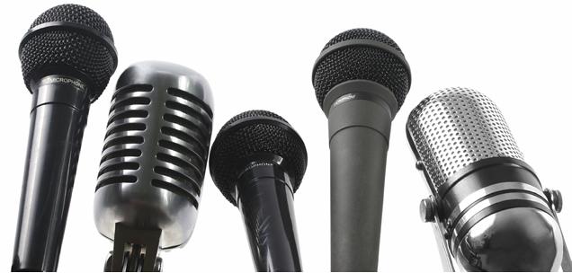 microphones, sound bite, scrum