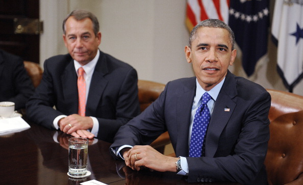 U.S. President Obama meets with a bipartisan group of congressional leaders - DC