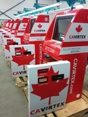 Cavirtex bitcoin automatic teller machines (BTM)s red with maple leaf