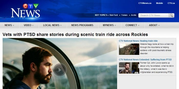 Life Changing Train for Heroes on CTV